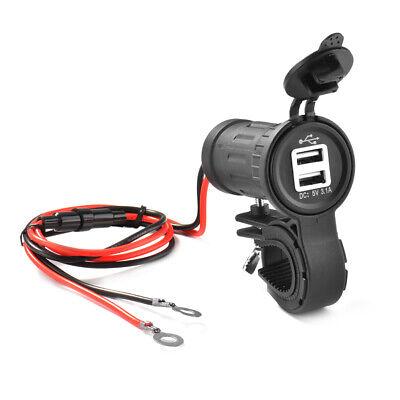 Wasserdicht 12V Motorrad Steckdose USB Anschluss Ladegerät Bord Steckdose MA1410 ()