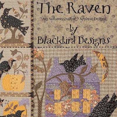 Autumn Design - BOOK: The Raven: An Autumn Quilt of 9 Applique Designs by Blackbird Designs
