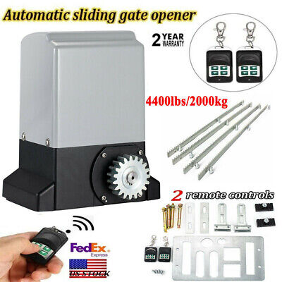 Automatic Electric Sliding Gate Opener, with W/4M Racks and 2 Remotes 2000kg for sale  USA