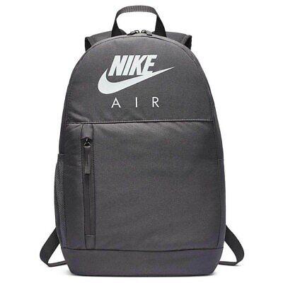 Nike Air Backpack Mens/Boys Gym Sports School Elemental Backpack Bag BNWT Grey