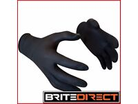 100x Tattoo Black S M L XL Nitrile gloves Higest Quality Latex and powder free mechanic vet strong