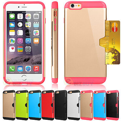 Hard Case Cover with Credit Card Slot for iPhone 6 / 6s / 6 Plus / 6s - Hard Case Cover Pouch