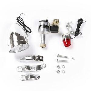 Friction Generator Headlight Tail Light Kit For Bicycles Motorized Bike 6V 3W