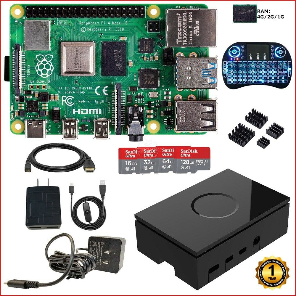 Berryku Raspberry Pi 4 Model B DIY  Kit - NOOBS