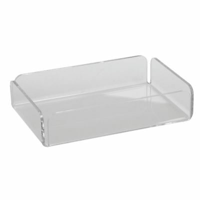 Clear Acrylic Plastic Display Tray Serving Tray - 9 L X 6 W X 2 H