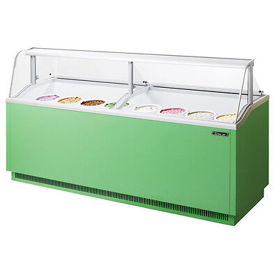 Turbo Air Tidc-91g 91-inch Ice Cream Dipping Cabinet Green