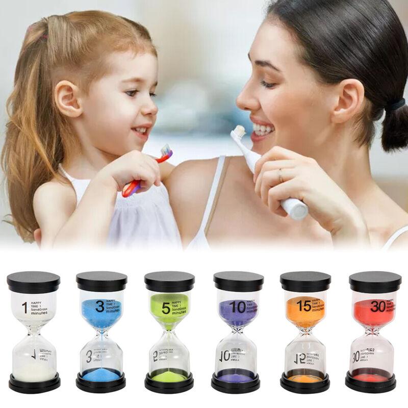 6Pcs Hourglass Sand Timer Minutes 1-3-5-10-15-30 Mini Cookin