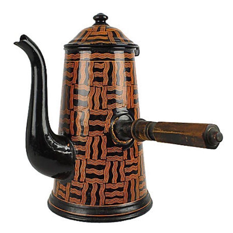 Antique Secession Movement BGB Enamel Coffeepot