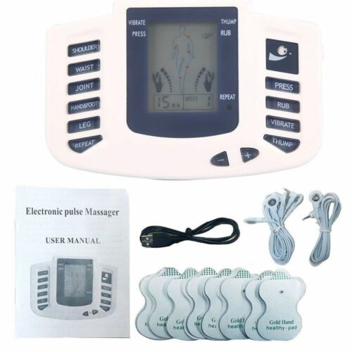 Electrical Stimulation Massage Tens Unit Machine Muscle Therapy Pain Relief USB Health & Beauty