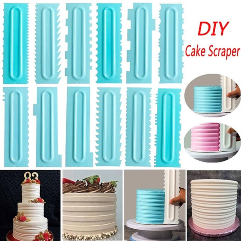 Cake Scraper Comb Icing Fondant Spatulas Smoother Cake Scrap