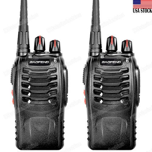 2 X BAOFENG BF-888S UHF 400-470 MHz 5W CTCSS Two-way Walkie-Talkie Radio