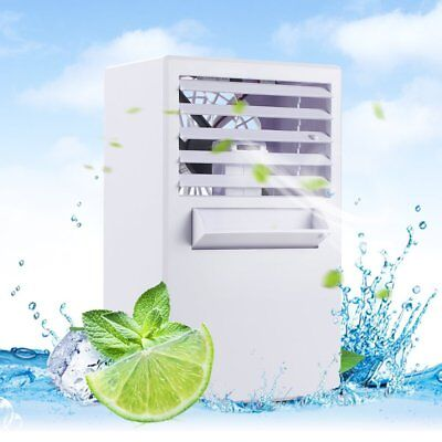 Portable Room Air Conditioner Mini Office Fan Cooler Small Desktop Humidifier