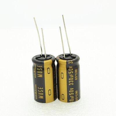 2pcs Nichicon Kz 330uf 50v 16x31.5mm 7.5mm Electrolytic Capacitors