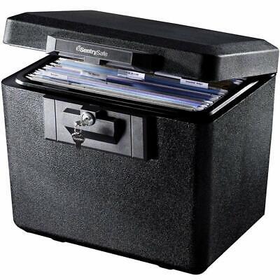 Sentry Safe Fireproof File Document Box Cash Storage Chest Key Locking Security