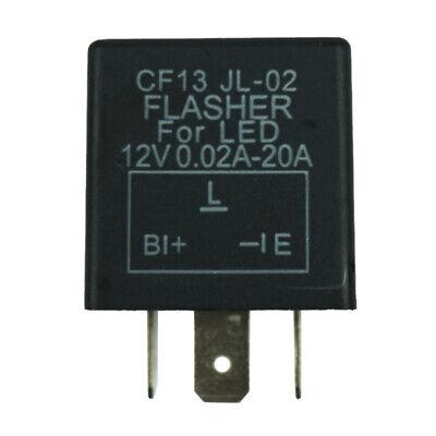 3-Pin Car Flasher Relay Fix Light LED Lamp Turn Signal Hyper Flash CF13 JL-02 US, usado comprar usado  Enviando para Brazil