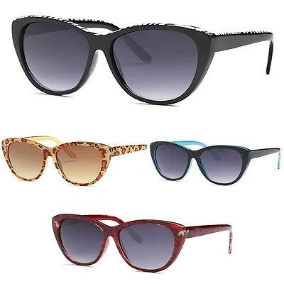 Women's Black Cat Eye Sunglasses Retro Classic Designer Vintage Fashion 4 (Women's Black Cat Eye Sunglasses)
