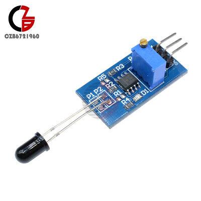 3.35v 760-1100nm Lm393 Flame Sensor Module Temperature Sensor Board For Arduino