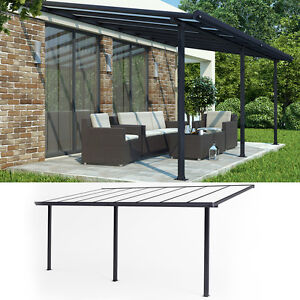 terrassen berdachung terrassendach pergola berdachung dach carport anthrazit. Black Bedroom Furniture Sets. Home Design Ideas