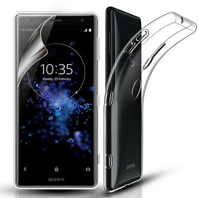 SONY XPERIA XZ3 CASE, BEST TRANSPARENT CLEAR GEL PHONE COVER & SCREEN
