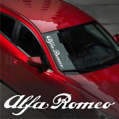 Alfa Romeo WINDSHIELD CAR Premium STICKER vinyl decal #1 145 146 147 155 156 159