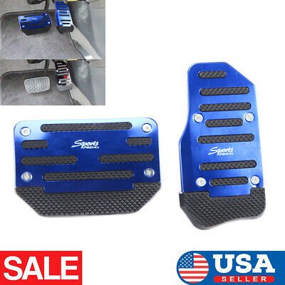 Blue Non-Slip Automatic Gas Brake Foot Pedal Pad Cover Car Universal Accessories