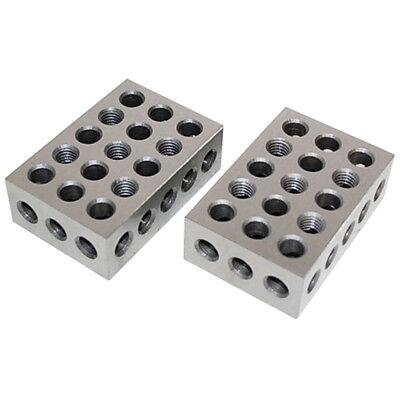 One Pair 1 2 3 Precision Blocks 23 Holes Set of 2 PCS