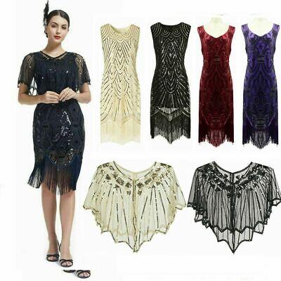 Damen 20er Jahre Charleston Kostüm Kleid Flapper Fransen - Flapper 20er Kleider