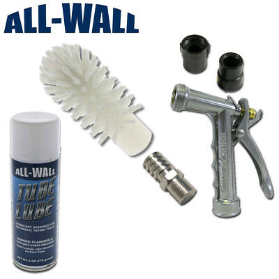 Drywall Automatic Taper Cleaning Kit W Tube Brush Ez-wash Nozzles Lube More