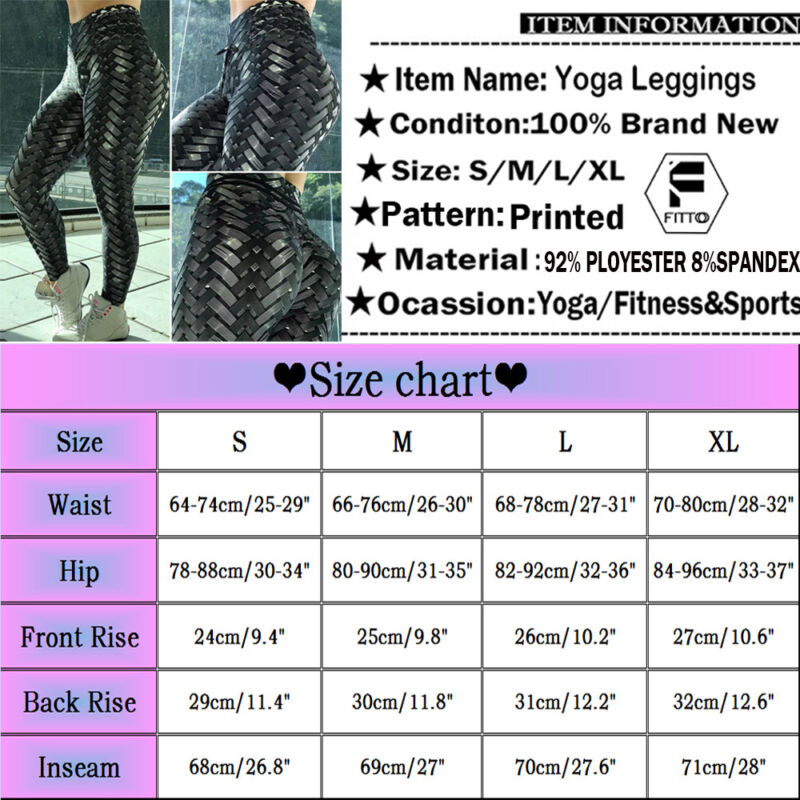 Sport Womens Compression Fitness Leggings Running Yoga Gym Scrunch Pants Workout 11