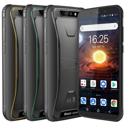 "Android Phone - Blackview Rugged Android 10.0 Smartphone Unlocked Mobile Phone 5.5"" 3GB+32GB 8MP"