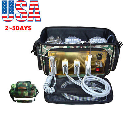 Usaportable Dental Unit With Air Compressor Suction System 3 Way Syringe 410w