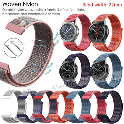 22mm Watch Wrist Band Strap Woven Nylon For Amazfit Stratos 2 Pace Pebble - Nylon Strap Clip Watch