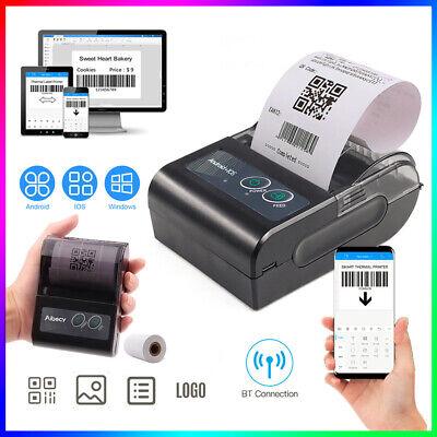 Handheld Wireless Bt 58mm Thermal Printer Portable Esc Pos Lable Receipt U2l2