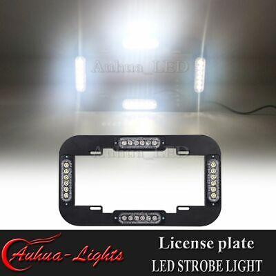 14 24w Led Emergency Strobe License Plate Lights Warning Traffic Adviser White