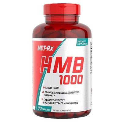 Met Rx HMB 1000 mg Per Serving BCAA AMINO ACID 90 Caps BUILD MUSCLE MASS (Amino Acid 90 Caps)