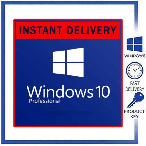 Windows 10 Retail Pro key 32/ 64bit Genuine License Key - Upgrade Home To Pro