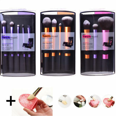 3 Sets Real Techniques Makeup Brushes Core Collection Starter Travel Essentials