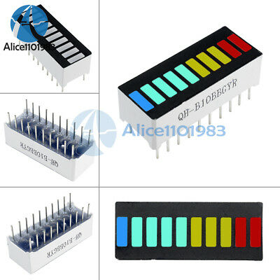 5pcs 10 Segment Colorful Led Bar Graph Indicator Dip Blue Green Yellow Red
