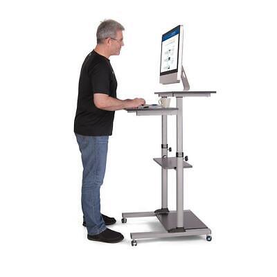 Best Standing Desk, Mobile Desk, Computer Cart, Height-Adjustable Rolling