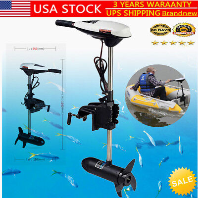 65Lb Hangkai Electric Trolling Motor Outboard Engine Outboard Motor 660W Usa New