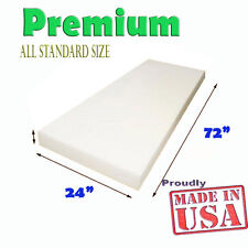 "High Density Seat Upholstery Foam Cushion Replacement  Per Sheet 24""x 72"""
