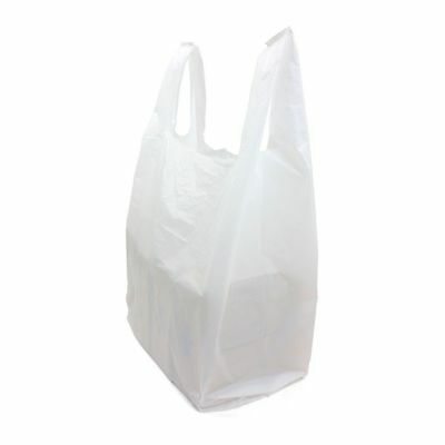 500 x Extra Large White Plastic Vest Carrier Bags XXL 16