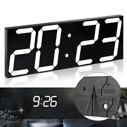 Alarm Digital LED Wall Clock Large Home Display Stopwatch Countdown Brightness