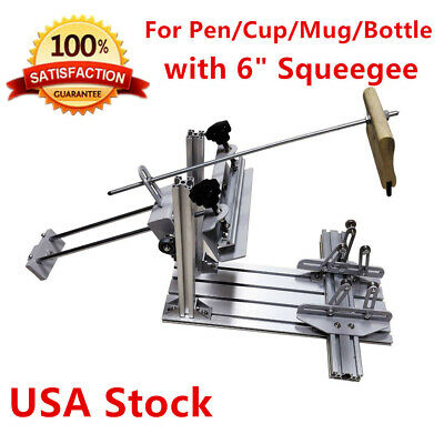 Manual Cylinder Screen Printing Machine Surface Curve Press For Pencupbottle
