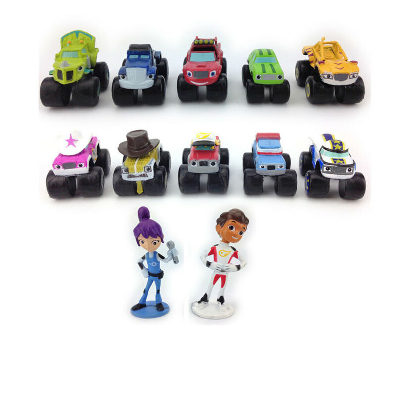 Blaze And The Monster Machines Vehicle 12 PCS Action Figure Doll Gift Kids Toy