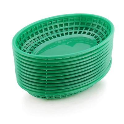 Restaurant Commercial Oval Fast Food Service Baskets, Green, 72 ct