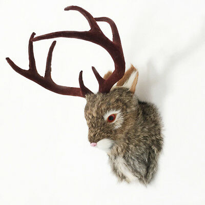 JACKALOPE Head Mount Realistic Animal In Fur Figurine For Home Or Office Gifts for sale  China