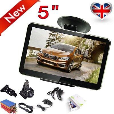 "5"" Inch Car GPS Navigation SAT NAV SpeedCam FM Free UK EU Map 8GB Automotive"