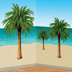 Hawaiian Tropical Party Decoration Scene Setter Add-On Props - PALM TREES