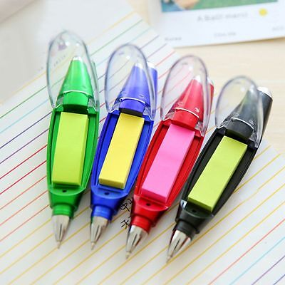 Design Office Supplies Students Ballpoint Pen Flashlight Note Paper Stationery
